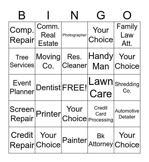 Member Extravagnza Bingo Card