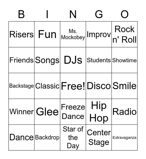 On Broadway Bingo Card