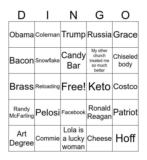 DINGO Bingo Card
