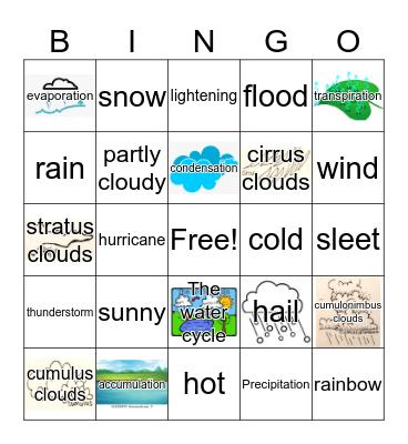 Weather! Bingo Card