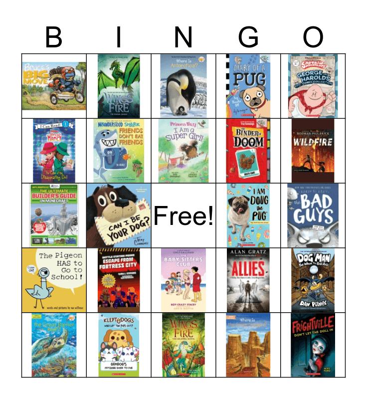 Book Fair Bingo Card