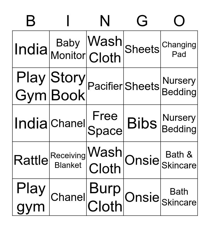 India's BINGO Card