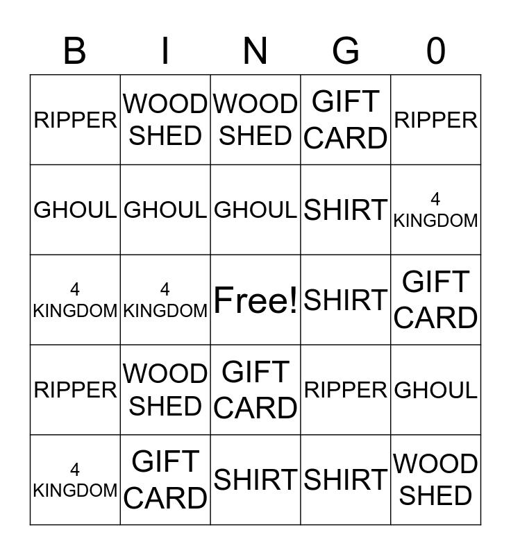 JOHN Bingo Card