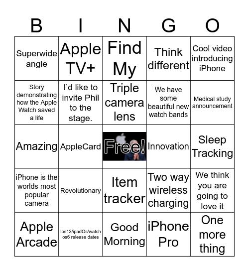 Special Event Bingo Card