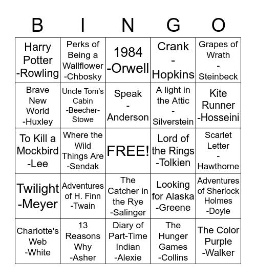 BANNED BOOKS BINGO! Bingo Card