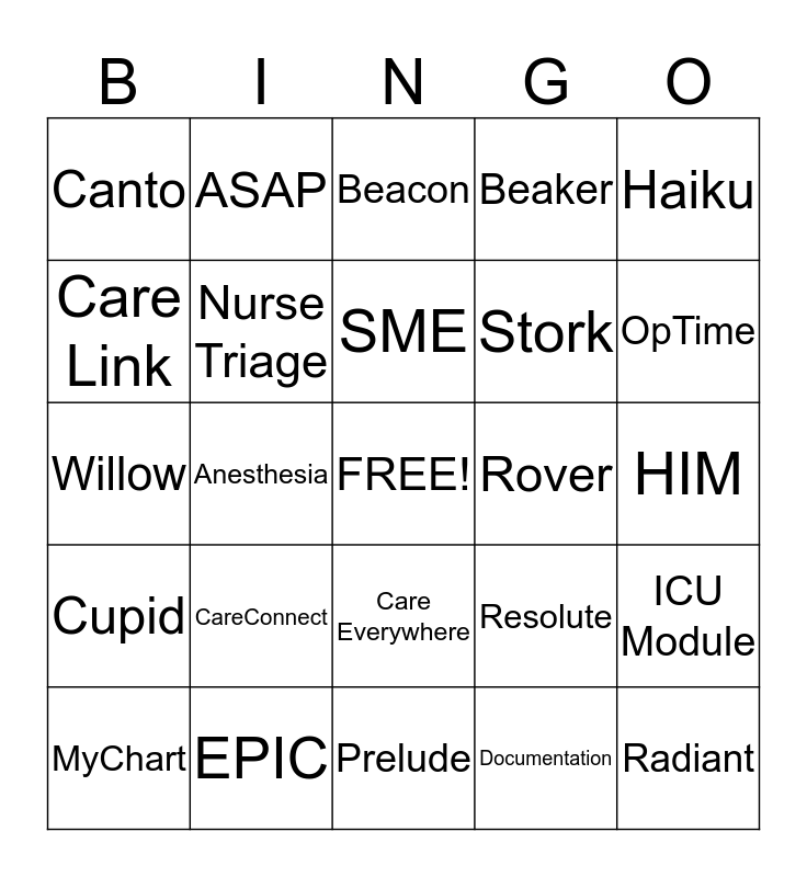 CareConnect Bingo Riverside Bingo Card