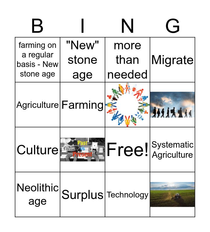 Neolithic age  Bingo Card