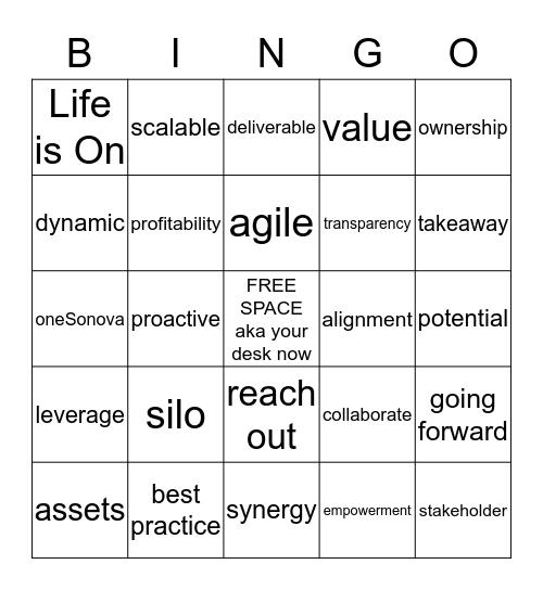 Summit Bingo Card