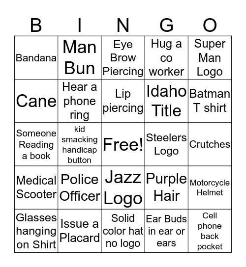 Vince's Black Out  Bingo Card