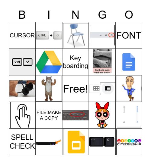 Computer Lab Review 2 Bingo Card