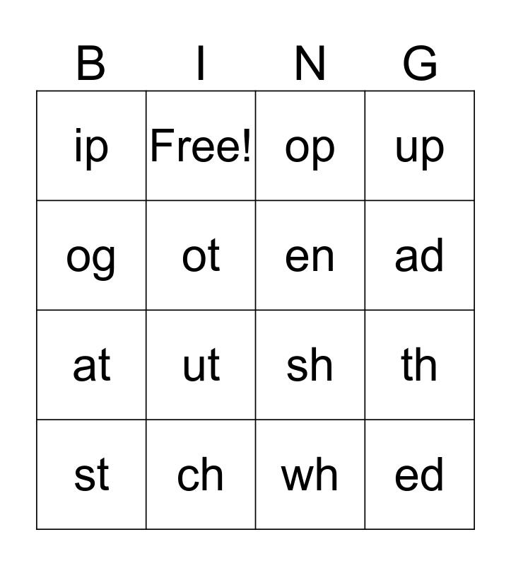 Blend Bingo Card