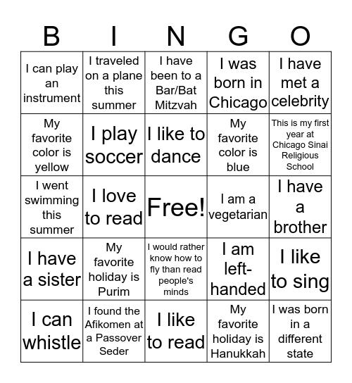 4th Grade Bingo! Bingo Card