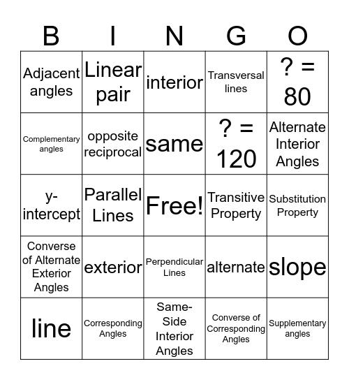 Module 4 Vocabulary  Bingo Card