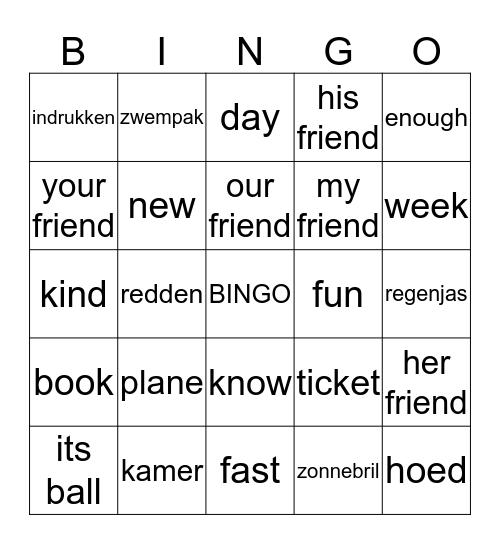 Bingo Study Box 2 Bingo Card