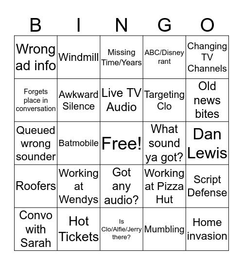 Show Bingo, updated 2019-09-13 Bingo Card