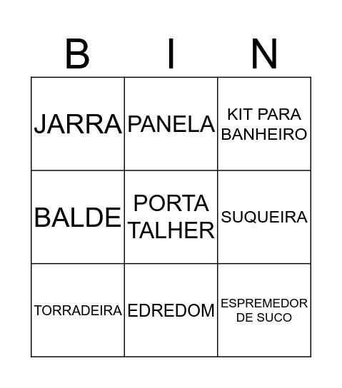 CHÁ DA PRII Bingo Card