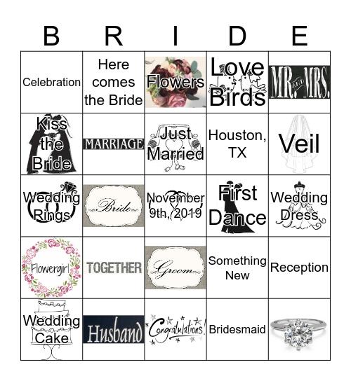Keesha's Bridal Shower BINGO Card