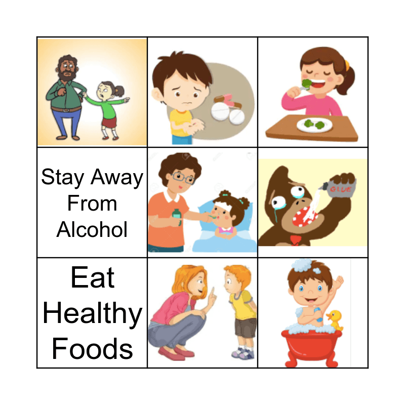 Healthy Lifestyle Bingo Card