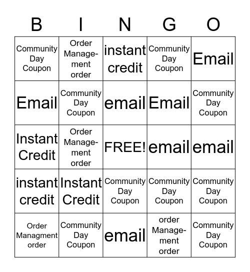 Bingo Weekend Bingo Card