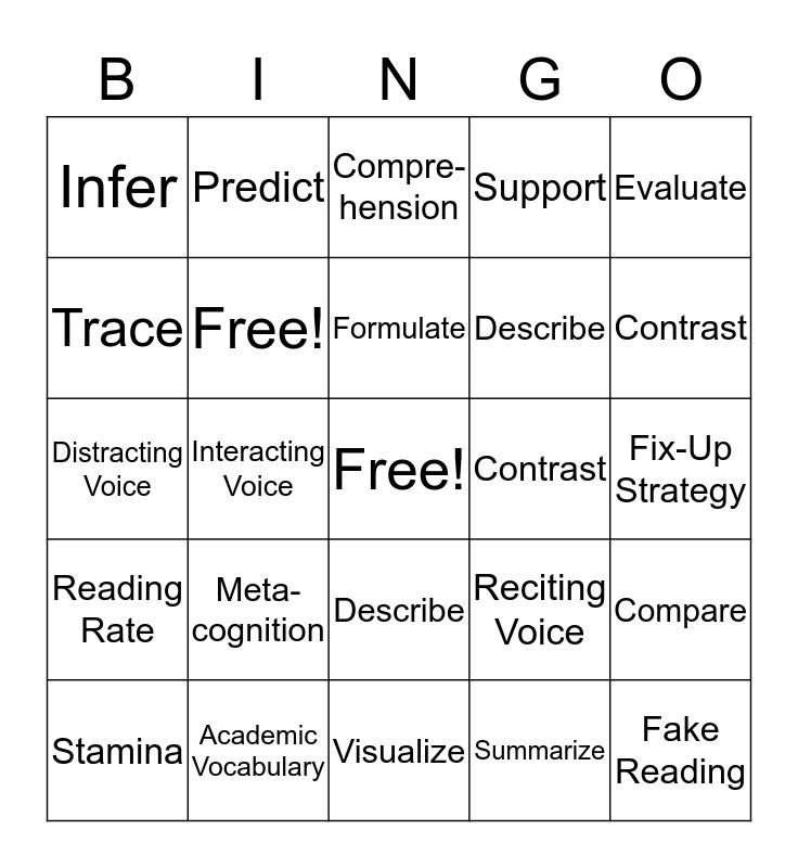 Unit One (So Far) Bingo Card