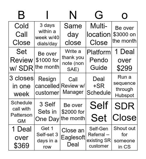 SOLUTIONREACH Bingo Card