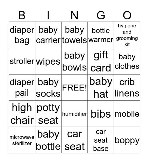 Baby Faith's Gifts Bingo!!! Bingo Card