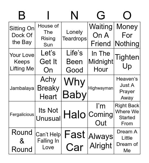 Music Bingo 11-22 Bingo Card
