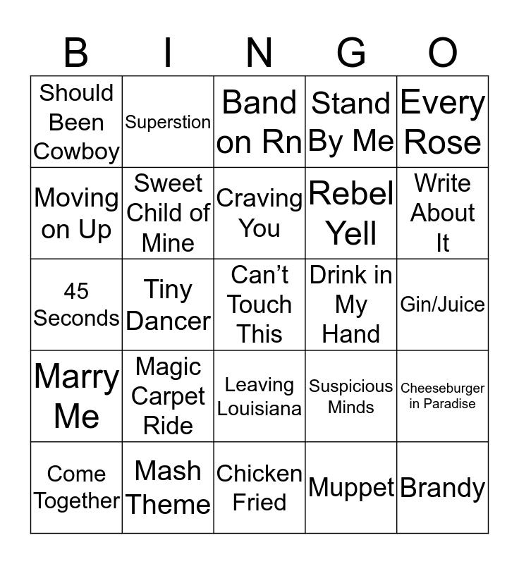 Music Bingo 1-17 Bingo Card