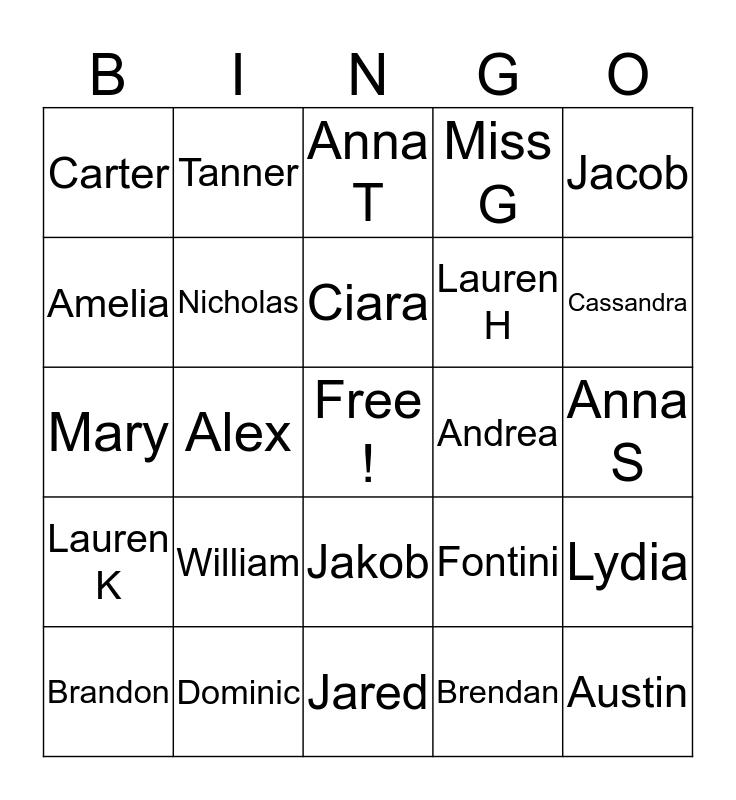 Get to Know You Bingo  Bingo Card