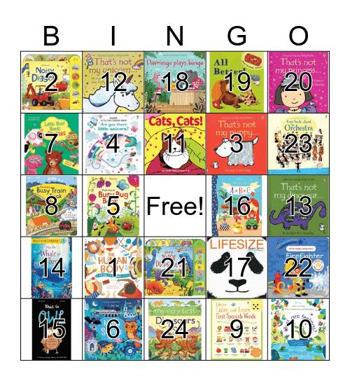 Usborne Books & More Bingo!! Bingo Card