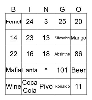 Funny Bingo Card