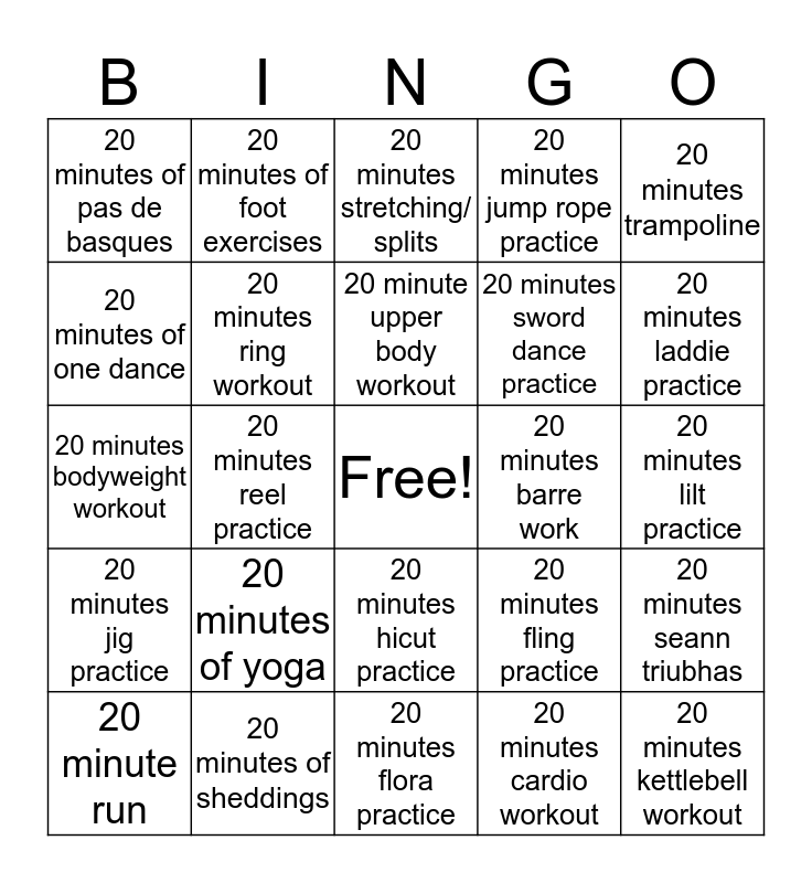 Kingfisher Bingo Card