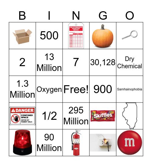 Fall & Fire Safety Bingo Card