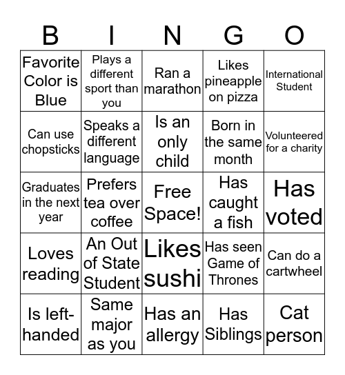 KNIT Human Bingo Card