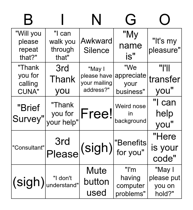 Life of a QPS Agent Bingo Card