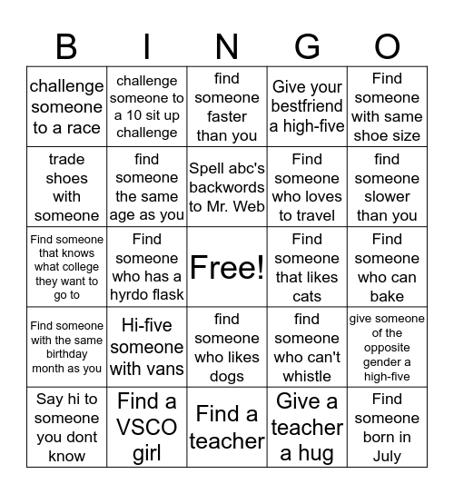 Ram Bingo Card