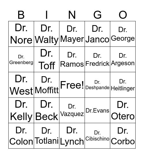 St. Luke's BINGO Game #4 Bingo Card