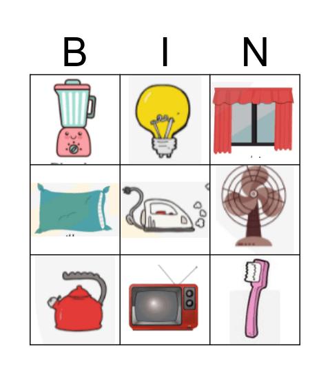 Household Bingo Card