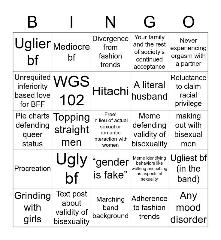 Bisexual girl Bingo Card