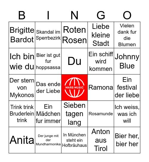 Bierfest Bingo Card