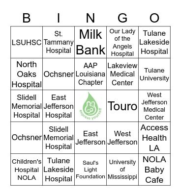 Express Yourself Bingo Card