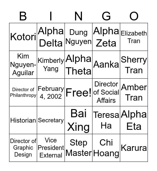 Week 1 Bingo Card