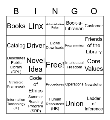 KNOW DPL Bingo Card
