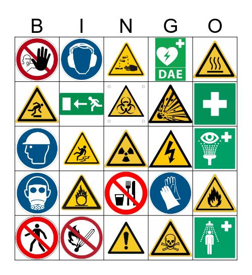 BINGO DE SÉCURITÉ Bingo Card
