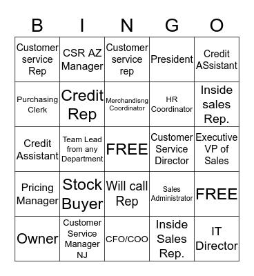 S&S Bingo Card