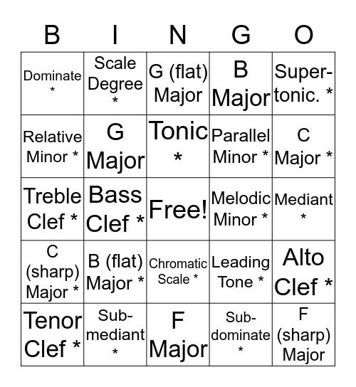 Natalie's Bingo MT Bingo Card