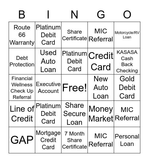 MIC Bingo  Bingo Card