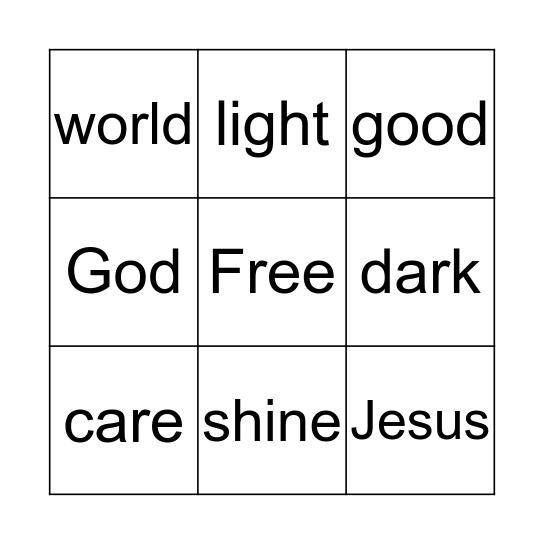 Let Your Light Shine Bingo Card