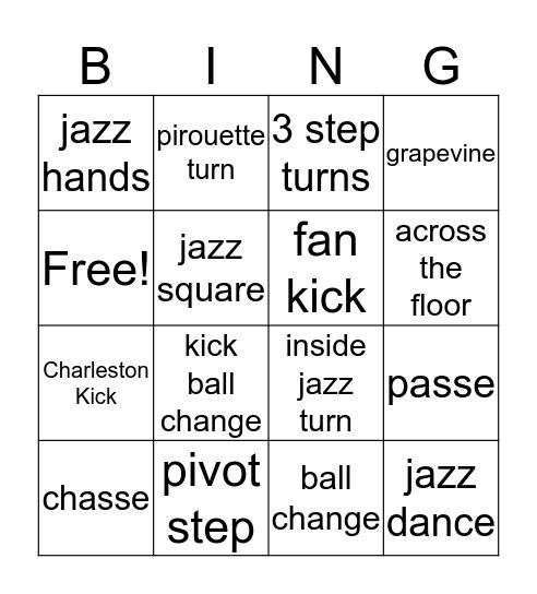 Jazz Bingo Card