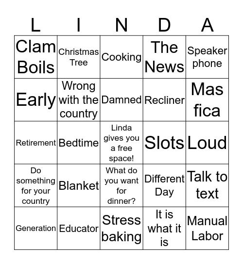 Linda's 60th Birthday Bingo Card